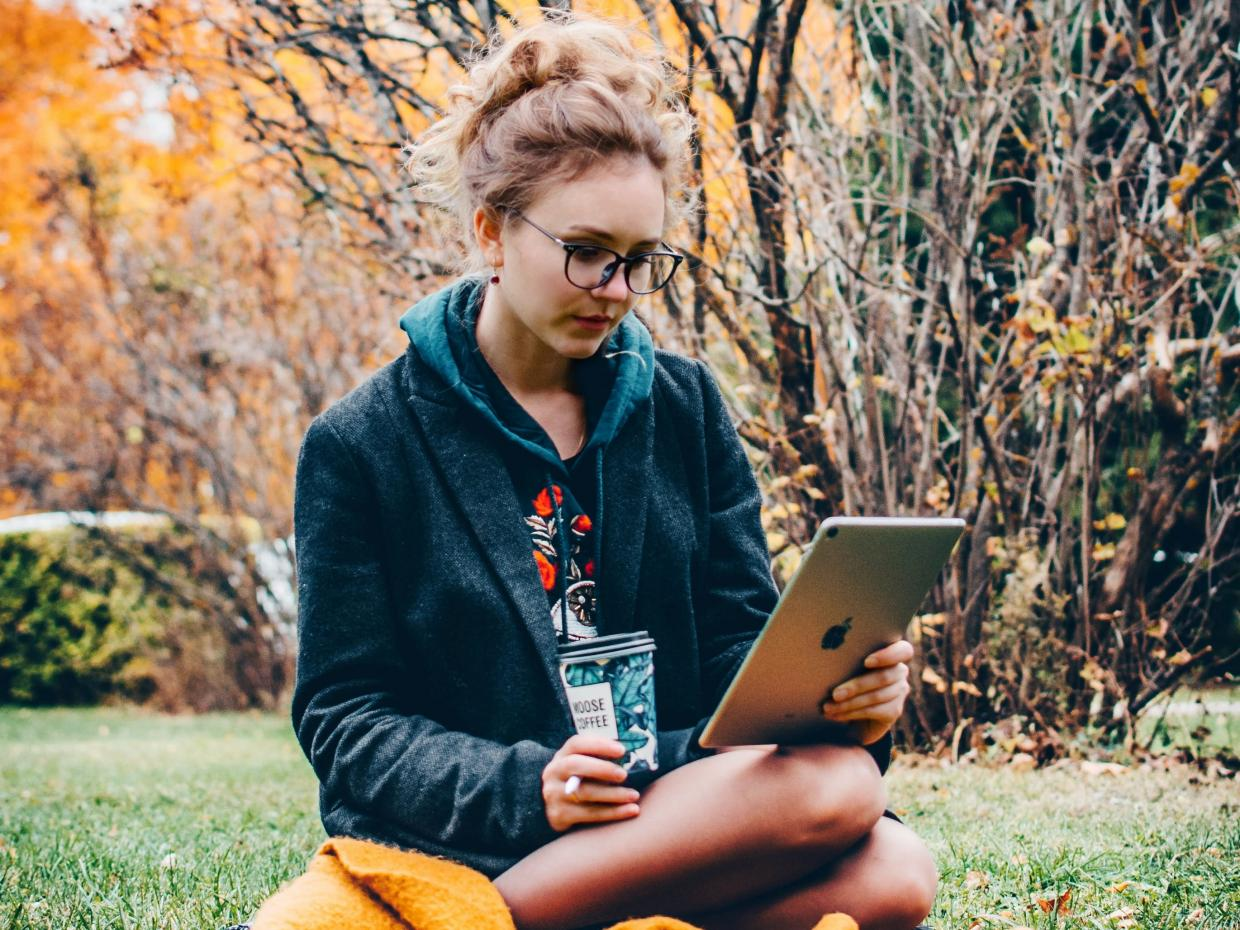 Encourage students to take their online learning outside