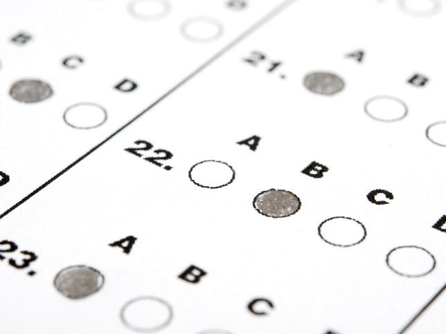 A scantron sheet. Do we dehumanise students when we put them into spreadsheet rows?
